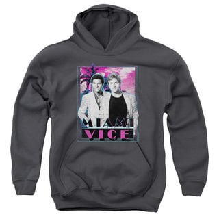 Miami Vice/Gotchya Youth Pull-Over Hoodie in Charcoal