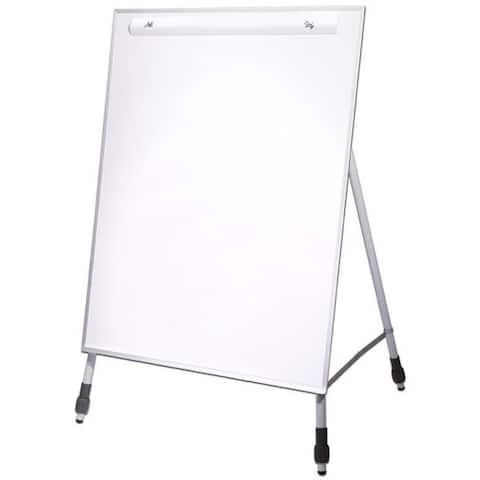 Flipside Products 27.5 x 32-inch Dry Erase Easel Stand with Adjustable Legs