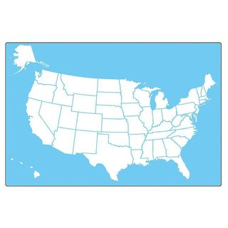 Flipside Two-sided 18 x 12-inch US Map Dry Erase Boards - 18 x 12