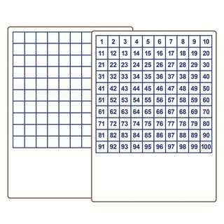 Flipside Products Hundreds Grid 9-inch x 12-inch Two-Sided Dry Erase Board