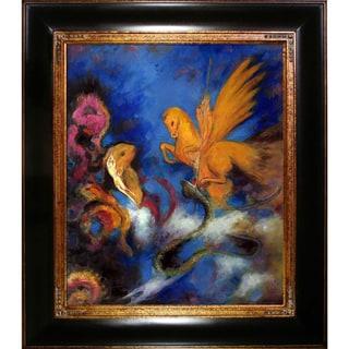 Odilon Redon 'The Dream' Hand Painted Framed Canvas Art