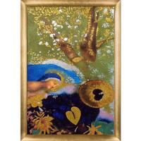 Odilon Redon 'Pegasus, 1905' (Luxury Line) Hand Painted Framed Canvas Art