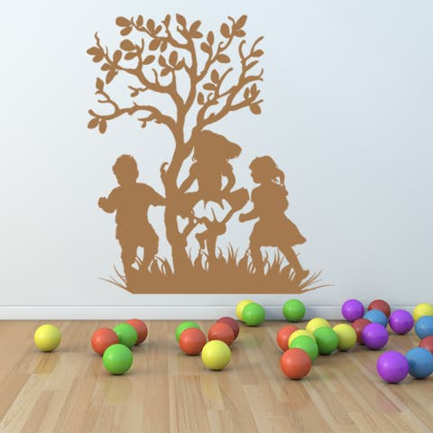Style & Apply 'Kids Laughing' Vinyl Wall Decal