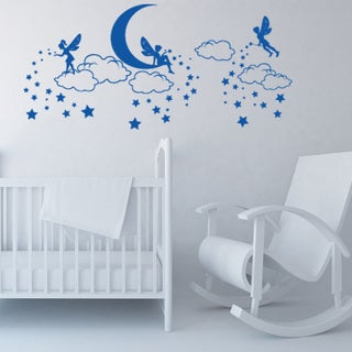 Style And Apply Magic Elves Blue Vinyl Decorative Wall Decals