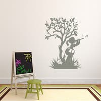 Style And Apply Happy Girl Mural Vinyl Art Home Decor