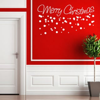 Style and Apply Merry Christmas Wall Decal
