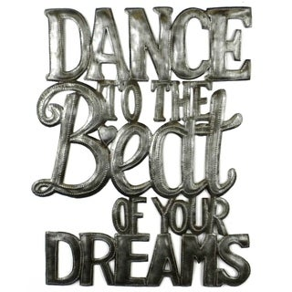 Handcrafted 'Dance to the Beat' Metal Wall Art (Haiti)