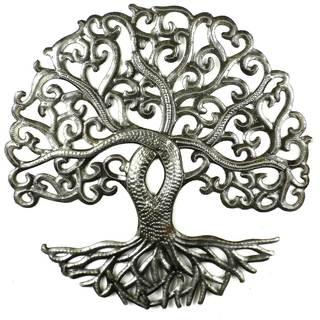 Handcrafted 14-inch Tree of Life Curly Branches (Haiti)