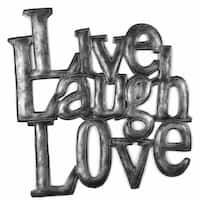 Handmade 'Live Laugh Love' Metal Wall Art (Haiti)