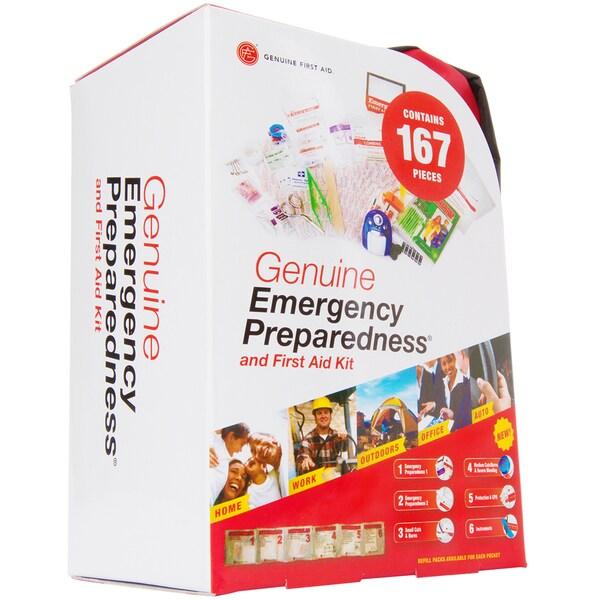Genuine First Aid 167-piece Emergency Preparedness Kit with Soft Bag