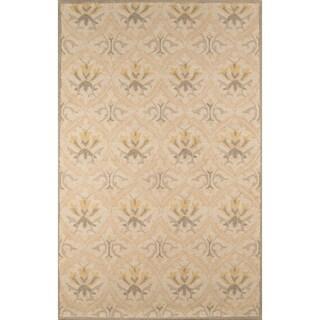 "Momeni Newport Beige Hand-Tufted Wool Rug (3'9 X 5'9) - 3'9"" x 5'9"""