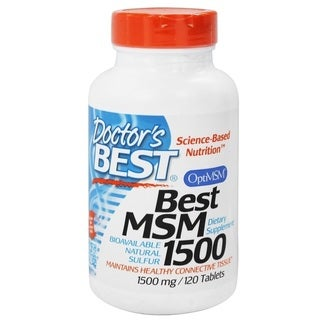 Doctor's Best MSM 1500-milligram Tablets (120 count)