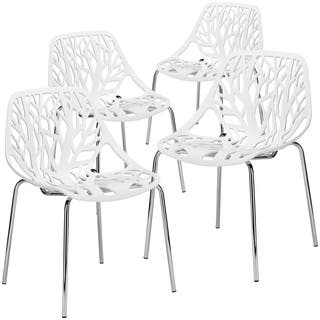 Buy White Chrome Kitchen Dining Room Chairs Online At Overstock