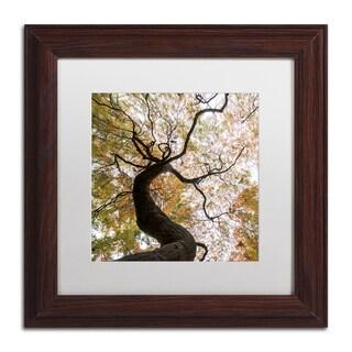 Kurt Shaffer 'Under a Japanese Maple 2' Matted Framed Art
