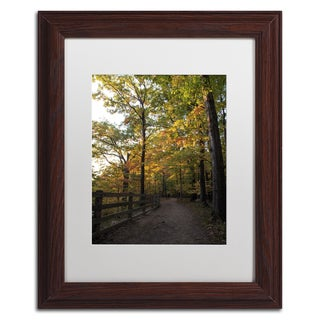 Kurt Shaffer 'Perfect End to an Autumn Day' Matted Framed Art