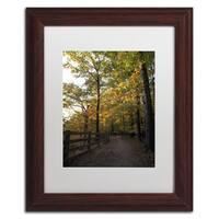 Kurt Shaffer 'Perfect End to an Autumn Day' Matted Framed Art