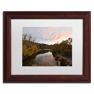 Kurt Shaffer 'Rocky River Autumn Sunset' Matted Framed Art