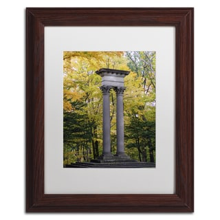 Kurt Shaffer 'Autumn Columns' Matted Framed Art