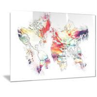 Designart 'Color Metal Wall Art' Map Metal Wall Art