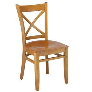 Cross-back Solid Wood Dining Chairs (Set of 2)