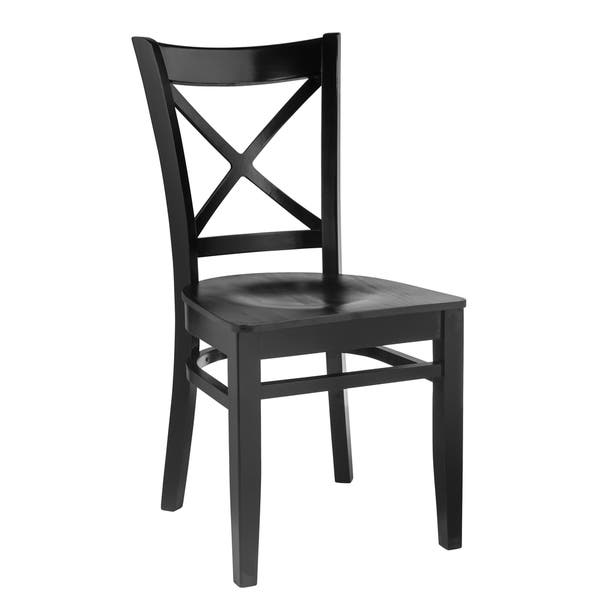 Cross Back Solid Wood Dining Chairs Set Of 2 On Sale Overstock 11866702