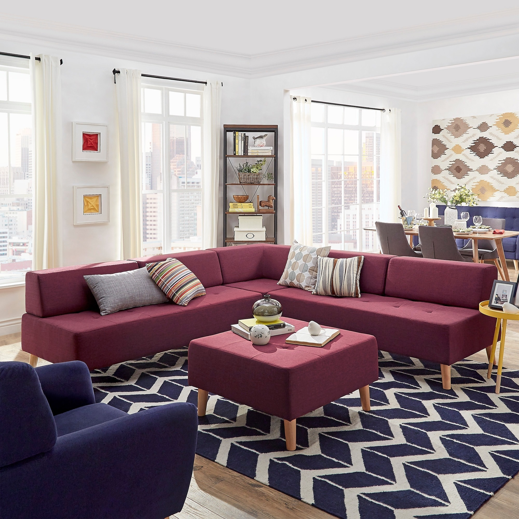 Soto Modern Upholstered Modular Sectional Seating iNSPIRE...