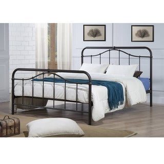 Baxton Studio Agamemnon Vintage Inspired Dark Bronze Finish Iron Metal Platform Bed