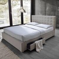 Porch & Den Exposition Beige King-size Platform Storage Bed