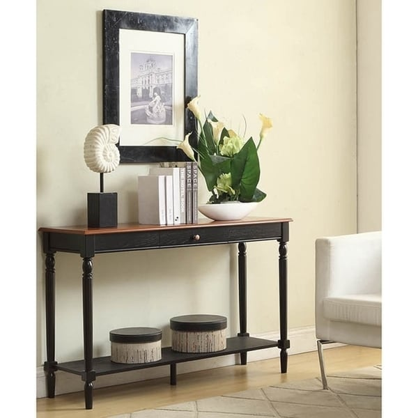 Convenience Concepts French Country Console Table w/ Drawer and Shelf