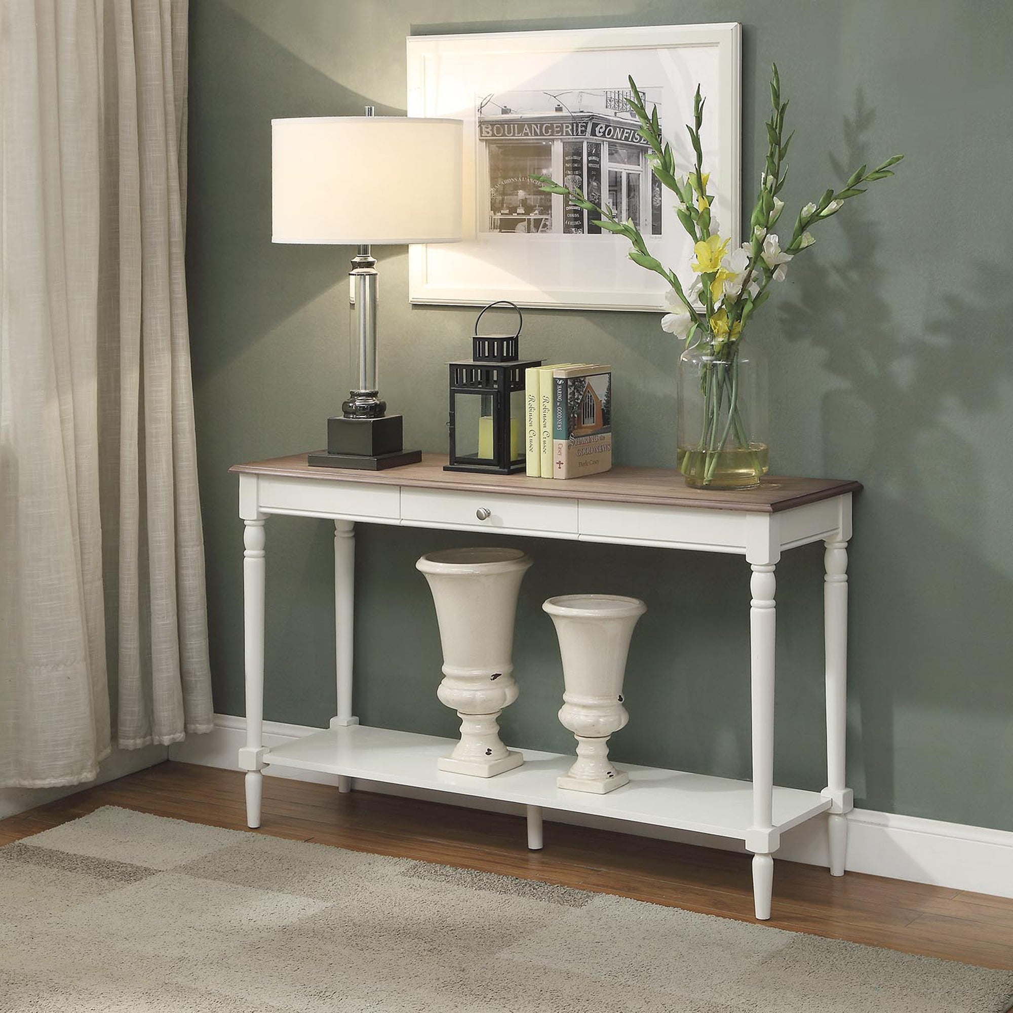 Convenience Concepts French Country Console Table w/ Draw...