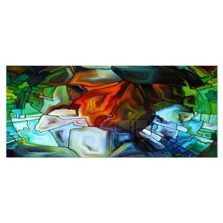 Designart 'Abstract Stained Glass Design' Abstract Metal Wall Art