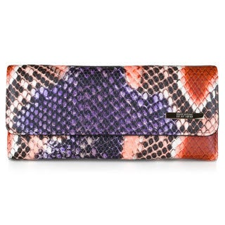 Kenneth Cole Reaction Women's Python Print Elongated Clutch Wallet