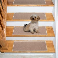 Berrnour Home Stair Beige Polypropylene 14-piece Treads Skid-resistant Rubber Backing Non-slip Tread Mats (9 W x 26 L)