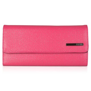 Kenneth Cole Reaction Women's Basketweave Elongated Clutch Wallet