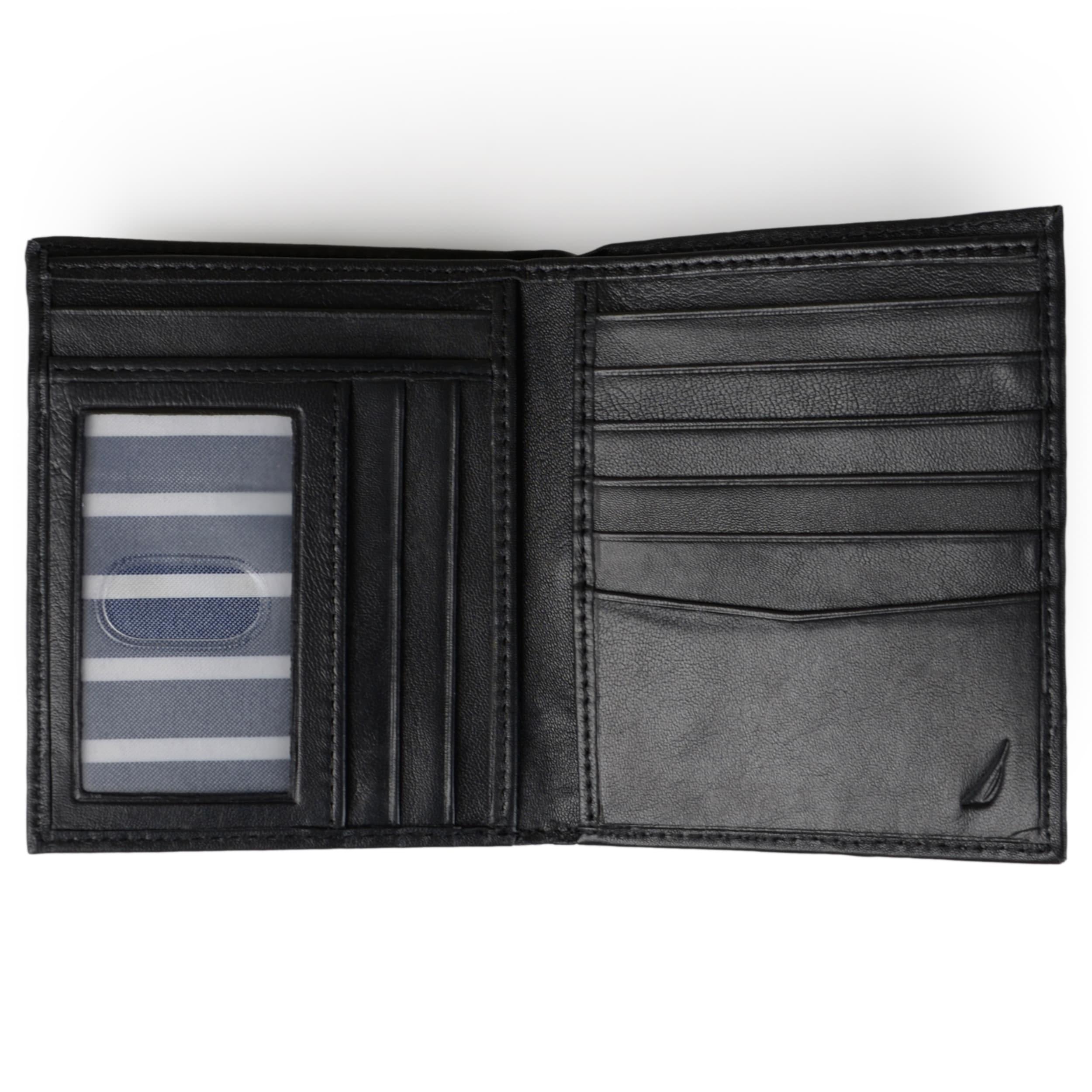 Nautica Men/'s Leather Credit Card ID Organizer Big Designer Wallet 31NU19X003