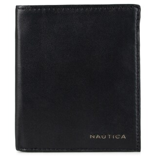 Nautica Men's Genuine Leather Credit Card Organizer Wallet