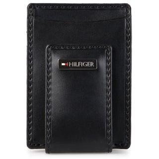 Tommy Hilfiger Men's Genuine Leather Front Pocket Wallet