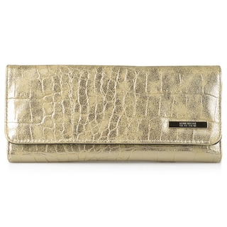 Kenneth Cole Reaction Women's Croc Print Elongated Clutch Wallet