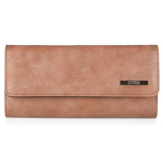 Kenneth Cole Reaction Women's Faux Leather Elongated Clutch Wallet