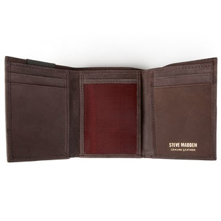 Steve Madden Men's Genuine Leather Trifold Wallet