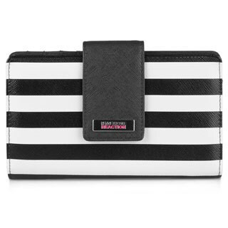 Kenneth Cole Reaction Women's Utility Tab Striped Clutch Wallet