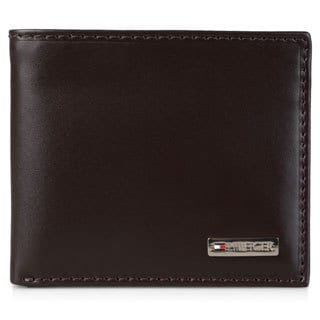 Tommy Hilfiger Men's Genuine Leather Bifold Passcase Wallet