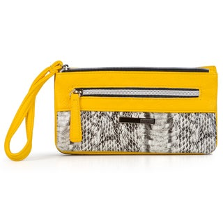 Kenneth Cole Reaction Women's Snake Print Pouch Clutch Wallet