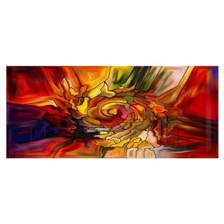 Designart 'Illusions of Stained Glass' Abstract Metal Wall Art