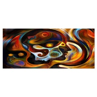 Designart 'Perspectives of Inner Paint' Abstract Metal Wall Art