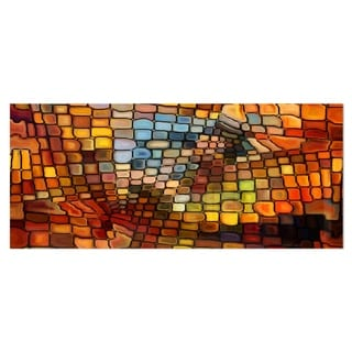Designart 'Dreaming of Stained Glass' Abstract Metal Wall Art