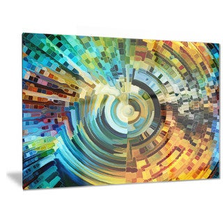 Designart 'Paths of Stained Glass' Abstract Metal Wall Art