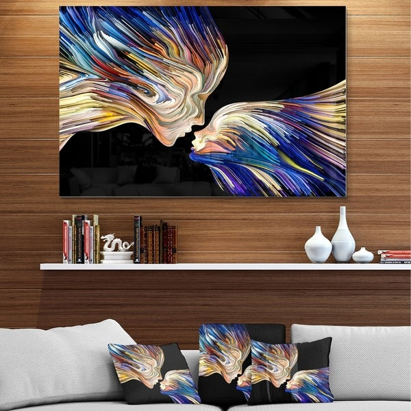 Shop Designart \'Metaphorical Mind Painting\' SENSUAL Metal Wall Art ...