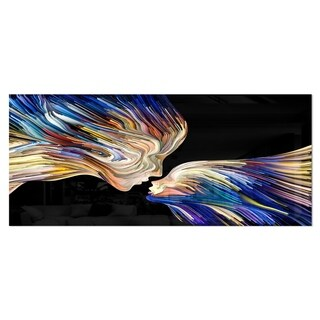 Designart 'Metaphorical Mind Painting' SENSUAL Metal Wall Art