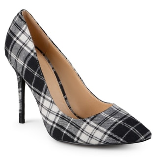 Journee Collection Women's 'Akara' Plaid Pointed Toe Pumps
